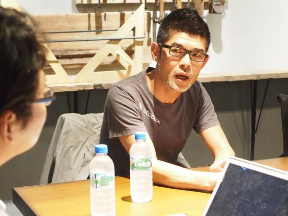 「123D Design」と「Fusion 360」の位置付けについて語るオートデスクの塩澤氏
