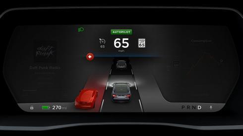 テスラの電気自動車「モデルS」は2500米ドルで自動運転オプションを追加できる