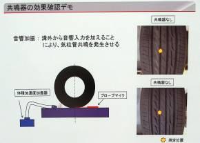 「GR-XI」の共鳴器の効果確認デモの概要