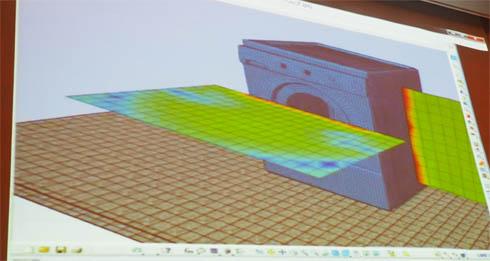 洗濯機の騒音解析の例