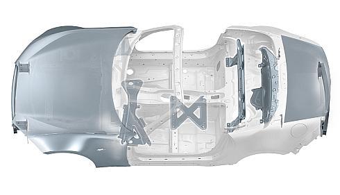 新型「マツダ ロードスター」のアルミニウムの採用部位