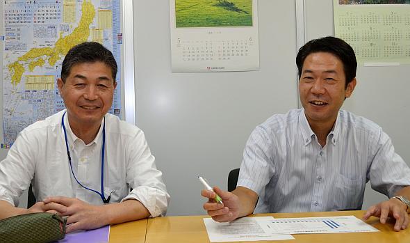 EVPOSSAの石本隆昭氏(左)と西村忠士氏