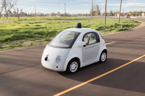 Googleの自動運転車の走行イメージ