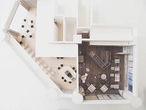 真上から見た新しいFabCafe Tokyoの模型