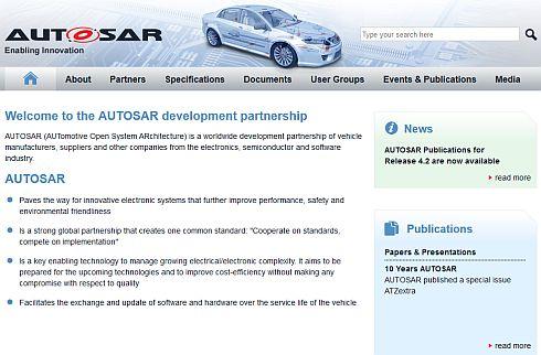 AUTOSARのWebサイト