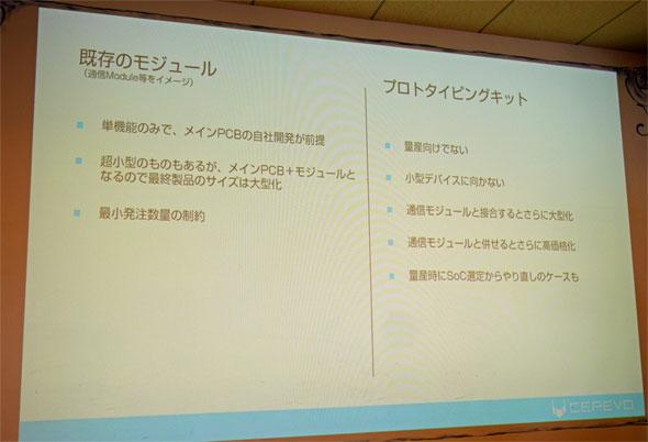 既存のモジュールとプロトタイピングキットが持つ課題