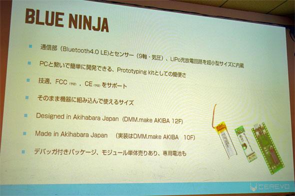 「BlueNinja」の概要説明スライド