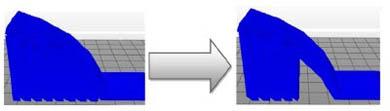 サポート材追加のしきい値変更(45度)