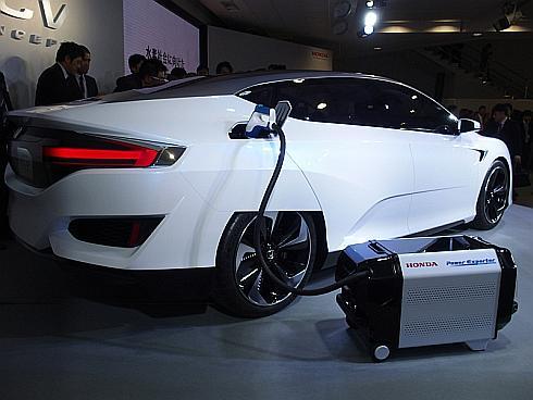 「Honda FCV CONCEPT」に接続した「Power Exporter CONCEPT 9000」