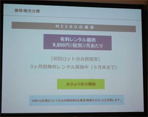 MEEBO・るくみーの販売目標