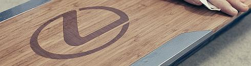 「レクサスホバーボード」の表面部は竹製