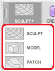 形状を作成する操作環境(Workspace)