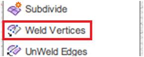 Weld Verticesによる2つのフェース表現の統合(1)