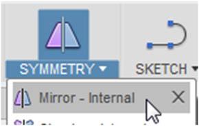 SYMMETRYメニューのMirror‐Internal機能(1)