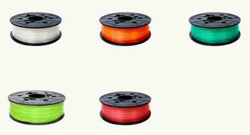 新たに5色のフィラメントが追加