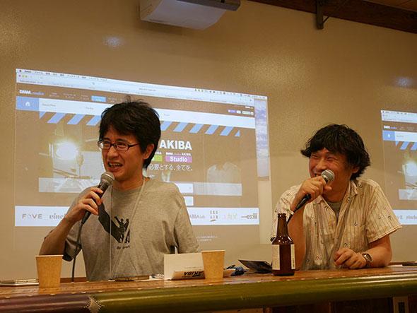 審査委員の米光一成さんと東泉一郎さん
