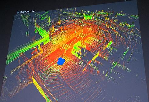 3次元レーザースキャナの情報を使ってでき上がった3次元地図