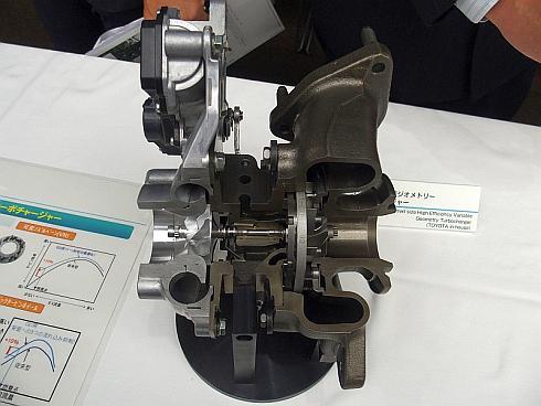「GDエンジン」のターボチャージャーのカットモデル