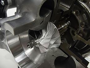 「GDエンジン」のターボチャージャーのコンプレッサインペラ