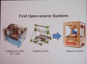 オープンソースの3DプリンタとMakerBot社の初代モデル「Thing-O-Matic」