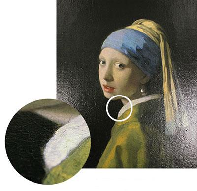 質感画像処理技術で油彩画をプリントした例