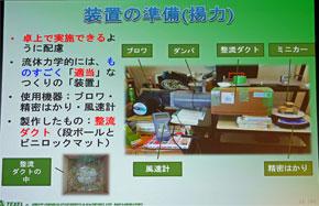 実験で使用したクルマ。カウルは藤原氏の手作り