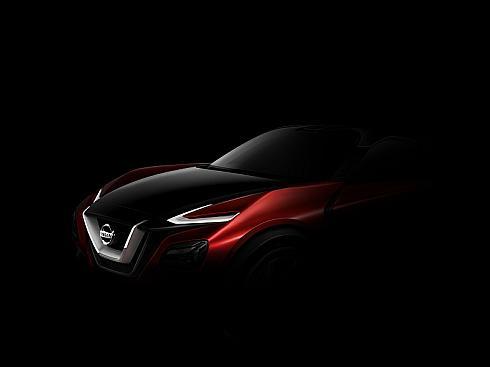 日産自動車が「フランクフルトモーターショー2015」で公開するクロスオーバーのコンセプトカーのイメージシルエット