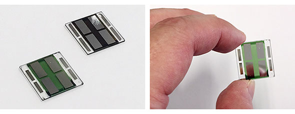 新しく開発された有機薄膜太陽電池