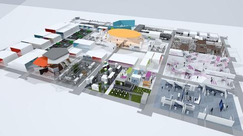 「New Mobility World」の展示スペースイメージ
