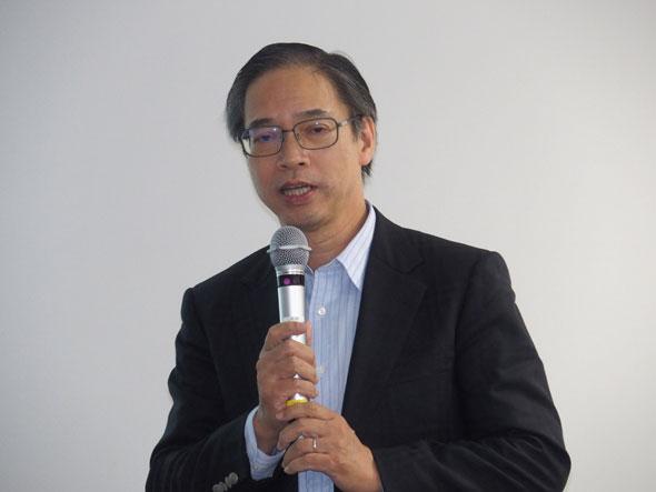 登壇したSIP-adus 国際連携WG(Working Group)主査でITS Japan 専務理事の天野肇氏