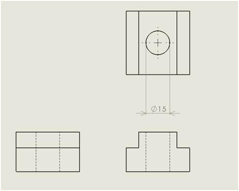 軸と同径の穴が開けられたブロック