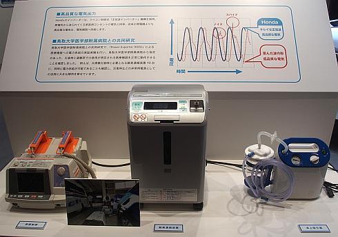 鳥取大学医学部附属病院次世代高度医療推進センターとの実証実験に使用している医療機器