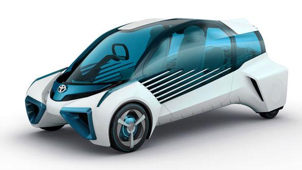 将来の燃料電自動車を表現したコンセプトモデル「TOYOTA FCV PLUS」