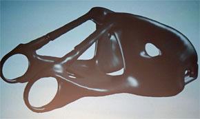 パーツは「ジェネレーティブデザイン」の手法を用いて製作された。従来の設計モデルより、有機的なデザインが行えることが特徴