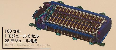 新型「プリウス」のニッケル水素電池駆動用バッテリーの構成
