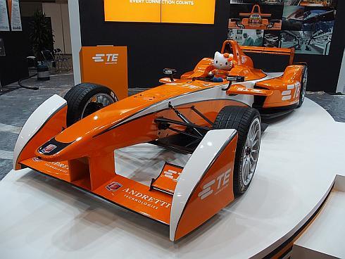 タイコ エレクトロニクス ジャパンが展示した「フォーミュラE」の実機