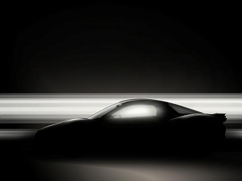 ヤマハ発動機が「東京モーターショー2015」で世界初公開する四輪車のデザイン提案モデルのシルエット