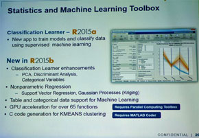 「R2015a」から追加されたデータ分析と機械学習ツール