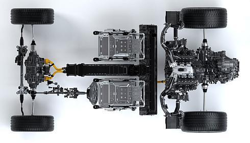 新型「NSX」の「SPORT HYBRID SH-AWD」の構成