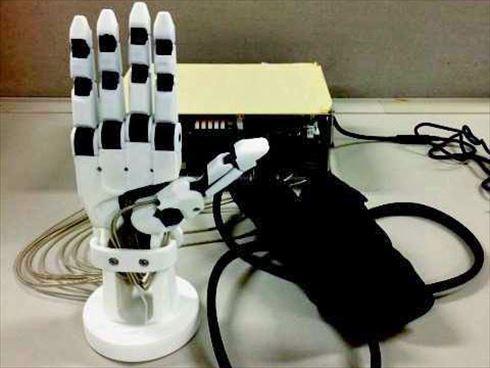 展示予定のロボットハンド