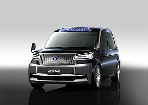 「東京モーターショー2013」で披露したコンセプトカー「JPN TAXI Concept」の外観
