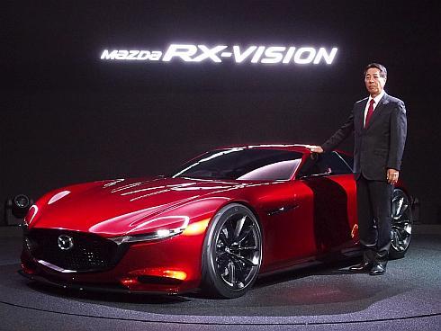 「RX-VISION」とマツダの小飼雅道氏