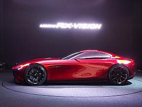 マツダが東京モーターショー2015で発表したスポーツカー「RX-VISION」