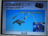 「3Dフラッシュライダー」による検知の例。昼間の歩行者
