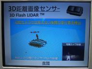 「3Dフラッシュライダー」による検知の例。夜間の歩行者
