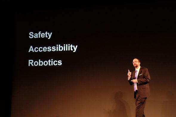 「Safety」「Accessibility」「Robotics」をキーワードとして掲げるプラット氏