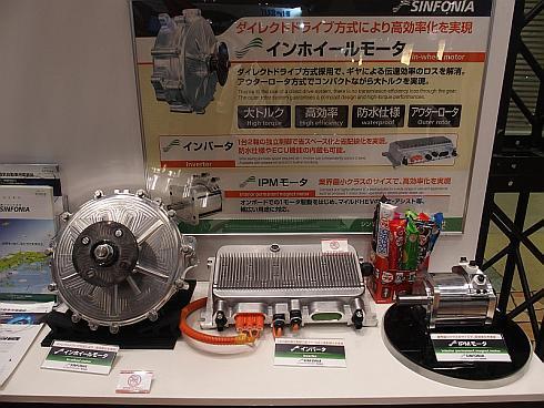 シンフォニアテクノロジーのインホイールモーター