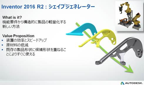 Inventor 2016 R2の新機能「シェイプジェネレータ」