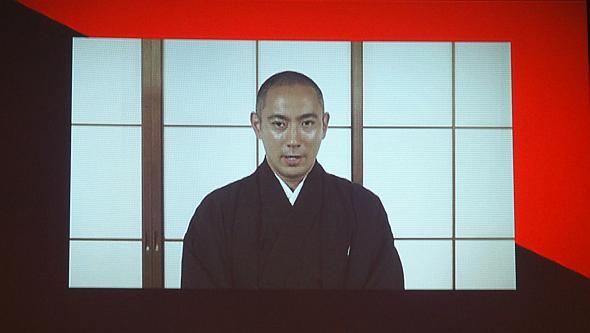 記者説明会では市川海老蔵さんからのビデオメッセージも