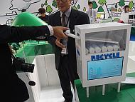ダイハツ工業のカートリッジ式液体燃料「CleaN2 Fuel」の技術展示